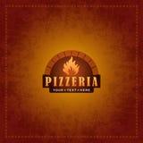 Diseño de la cubierta del menú para la pizzería - vector la plantilla Imagen de archivo