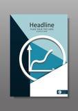 Diseño A4 de la cubierta del negocio con el gráfico de la subida Representante financiero de la publicación anual Fotografía de archivo libre de regalías