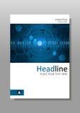 Diseño de la cubierta del vector de HUD Foto de archivo libre de regalías