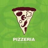 Diseño de la cubierta el menú para la pizzería Fotos de archivo libres de regalías