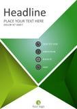 Diseño de la cubierta en figuras abstractas verdes Vector Imágenes de archivo libres de regalías