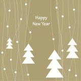 Diseño de la cubierta para la tarjeta de felicitación de la Navidad Foto de archivo