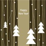 Diseño de la cubierta para las tarjetas de felicitación de la Navidad Imágenes de archivo libres de regalías