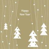 Diseño de la cubierta para las tarjetas de felicitación de la Navidad Fotografía de archivo