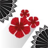 Diseño de la cultura del flamenco stock de ilustración