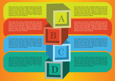 Diseño de la disposición con propia área para el texto. Fotos de archivo