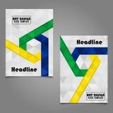Diseño de la disposición de la cubierta de libro Art Cover Layout Design abstracto Fotografía de archivo libre de regalías