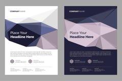 Diseño de la disposición del folleto stock de ilustración