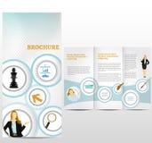 Diseño de la disposición del folleto Fotografía de archivo libre de regalías
