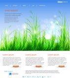 Diseño de la disposición del Web page stock de ilustración