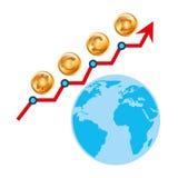 Diseño de la economía global Foto de archivo libre de regalías