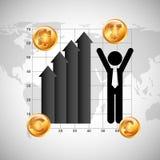 Diseño de la economía global Imágenes de archivo libres de regalías