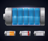 Diseño de la energía de la batería Fotos de archivo