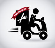 Diseño de la entrega de la comida libre illustration