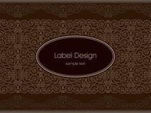 Diseño de la escritura de la etiqueta Fotografía de archivo libre de regalías