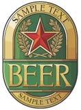 Diseño de la escritura de la etiqueta de la cerveza