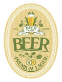 Diseño de la escritura de la etiqueta de la cerveza. Imagen de archivo