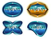Diseño de la escritura de la etiqueta de la compañía stock de ilustración