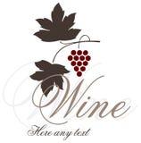 Diseño de la escritura de la etiqueta del vino Imagen de archivo libre de regalías