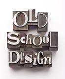 Diseño de la escuela vieja Foto de archivo libre de regalías