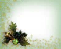 Diseño de la esquina de la decoración de la Navidad Fotos de archivo libres de regalías