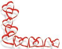 Diseño de la esquina de la tarjeta del día de San Valentín Imagen de archivo libre de regalías