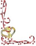 Diseño de la esquina de la tarjeta del día de San Valentín Foto de archivo