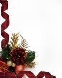 Diseño de la esquina de las cintas de la Navidad Fotos de archivo libres de regalías