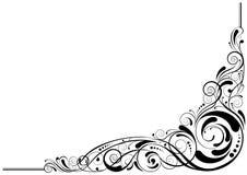 Diseño de la esquina retro ilustración del vector