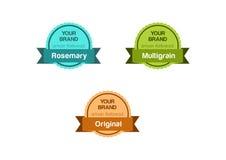Diseño de la etiqueta Fotografía de archivo libre de regalías