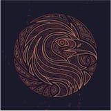Diseño de la etiqueta de Eagle Fotografía de archivo libre de regalías