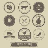 Diseño de la etiqueta del filete del menú Imágenes de archivo libres de regalías