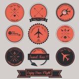 Diseño de la etiqueta del vintage del aeroplano Fotos de archivo