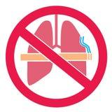 Diseño de la etiqueta engomada del humo del ` t de Don stock de ilustración