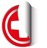 Diseño de la etiqueta engomada para la bandera suiza Fotos de archivo libres de regalías