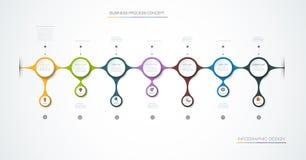 Diseño de la etiqueta de Infographic del vector con los iconos y 7 opciones o pasos libre illustration