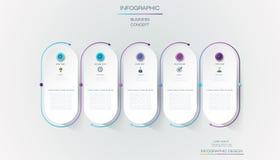 Diseño de la etiqueta de Infographic del vector con los iconos y 5 opciones o pasos Infographics para el concepto del negocio libre illustration