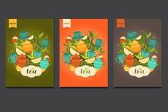 Diseño de la etiqueta para el té Fotos de archivo libres de regalías