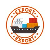 diseño de la exportación y de la importación Foto de archivo libre de regalías