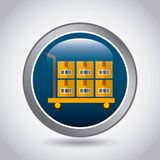diseño de la exportación y de la importación Fotos de archivo libres de regalías