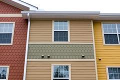 Diseño de la fachada del apartamento Fotos de archivo