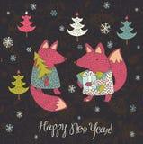 Diseño de la Feliz Año Nuevo Foto de archivo libre de regalías