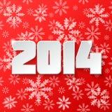 Diseño de la Feliz Año Nuevo 2014 stock de ilustración