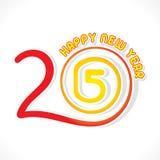 Diseño de la Feliz Año Nuevo 2015 Imagen de archivo