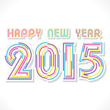 Diseño de la Feliz Año Nuevo 2015 Fotografía de archivo libre de regalías