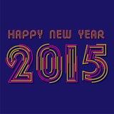 Diseño de la Feliz Año Nuevo 2015 Fotos de archivo