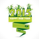 Diseño de la Feliz Año Nuevo 2015 Imágenes de archivo libres de regalías