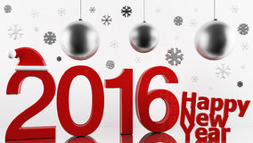 Diseño de la Feliz Año Nuevo 2016 Imágenes de archivo libres de regalías
