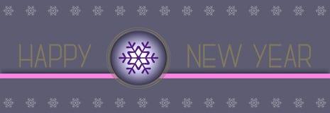 Diseño de la Feliz Año Nuevo 3d del vector Fotos de archivo libres de regalías