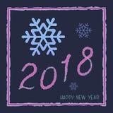 Diseño de la Feliz Año Nuevo del vector 2018 Imágenes de archivo libres de regalías